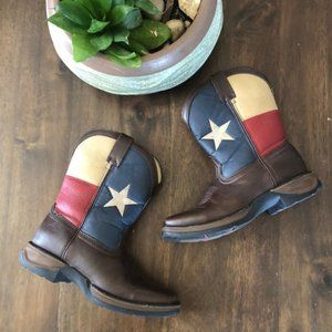 "Durango Kids BT246 8"" Western Boot Texas Flag US 1"